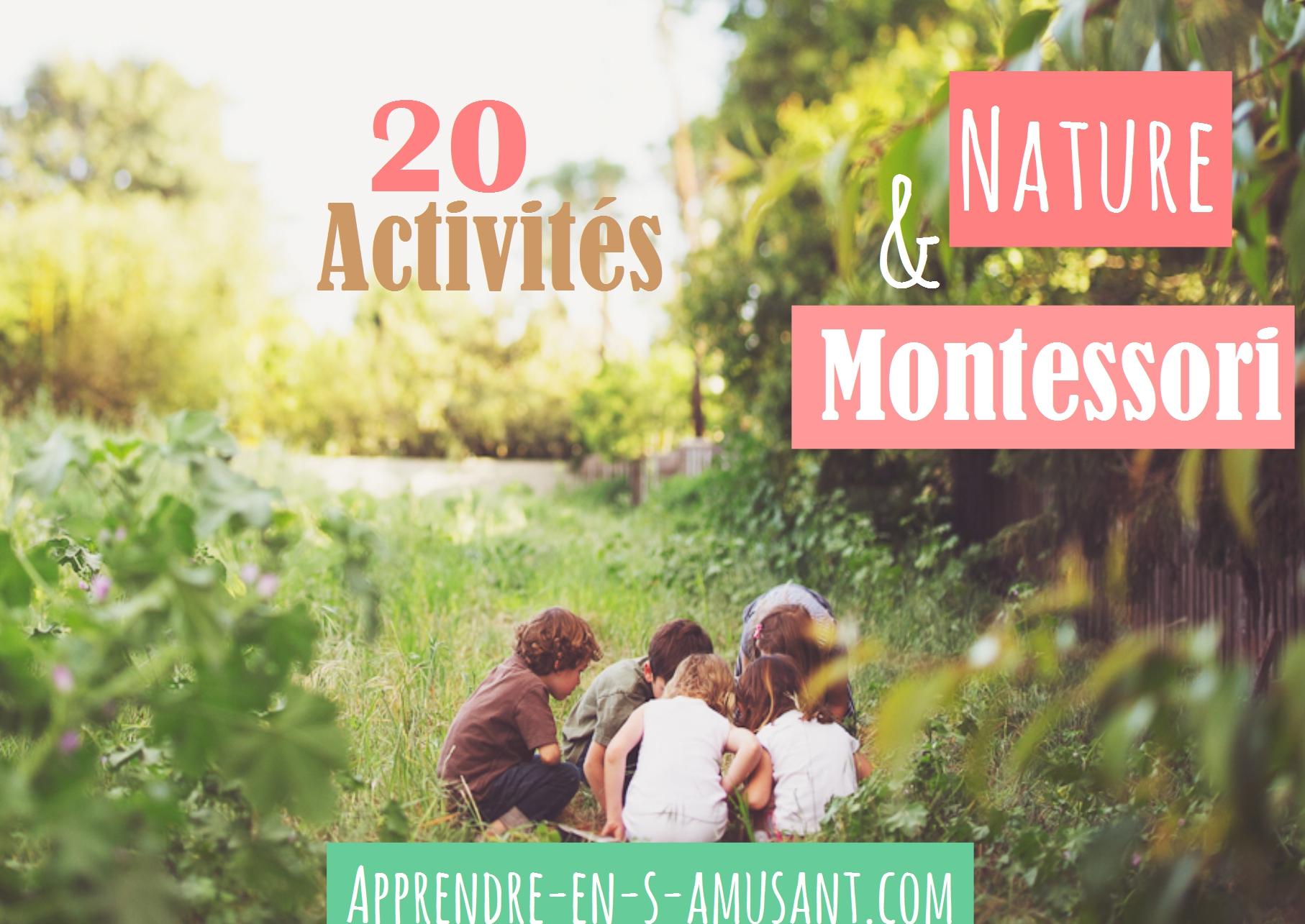 Couverture article Activites Nature Montessori