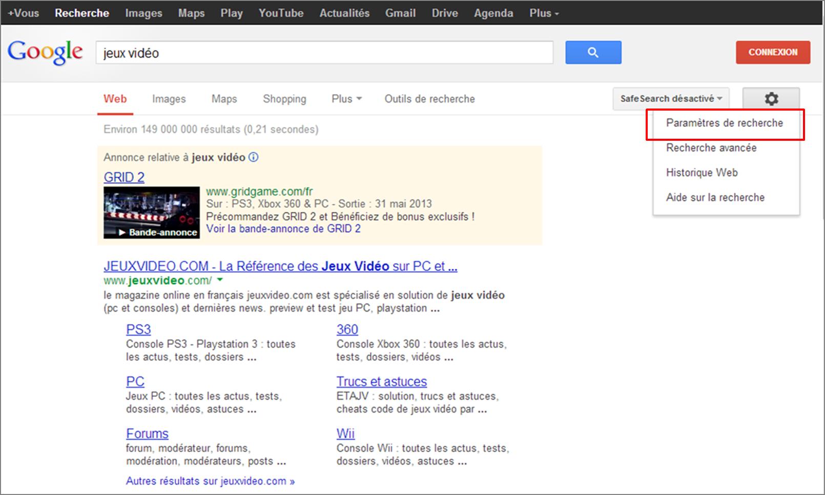 """Résultat de recherche d'images pour """"sécuriser écrans safe search"""""""