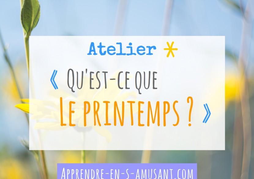 Couverture Projet Atelier Printemps
