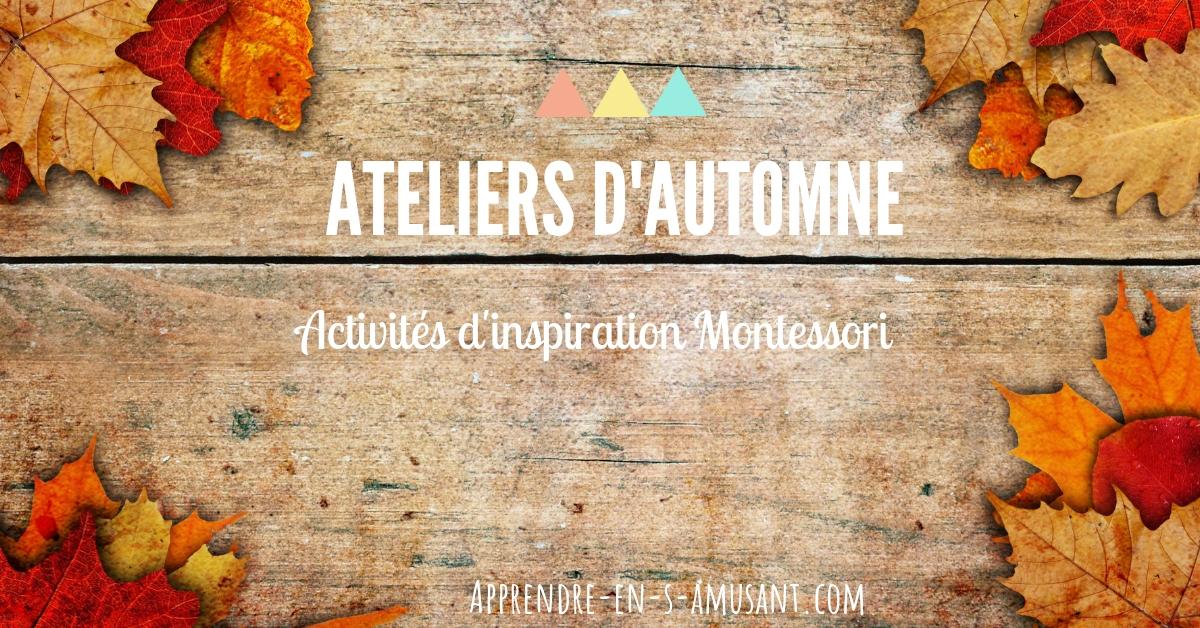 activités enfants automne Montessori